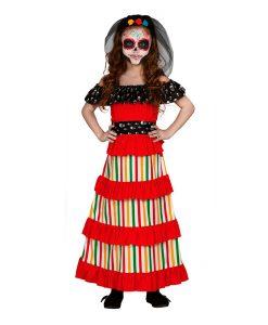 Disfraz Esqueleto Día de Los Muertos para niña